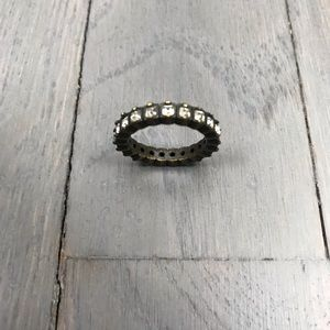 Ann Taylor Costume Jewelry Diamond Ring Band 5.5